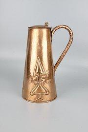 J F Pool of Hayle Arts & Crafts Copper Jug