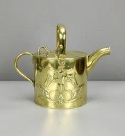 J Sankey Art Nouveau Brass Watering Can c1915