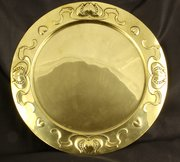 J Sankey Art Nouveau Willow Brass Tray circa 1900