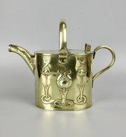 Joseph Sankey Art Nouveau Brass Watering Can c1910