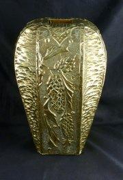 Large Art Nouveau Art Deco Brass Vase circa 1925