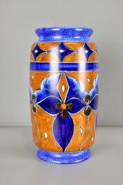 Large Clews Chameleon Ware Cylinder Vase c1930