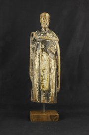 Late 17th Century Carved Wood Religious Figure