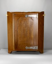 Liberty Art & Crafts Oak Corner Cupboard c1900