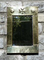 Liberty Arts and Crafts Brass Wall Mirror