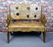 Liberty & Co Arts & Crafts Japanese Settle c1900