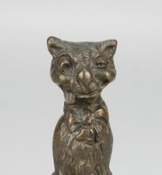 Louis Wain Bronze Cat Figure Paper Weight C1910
