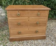 Lovely Arts and Crafts Oak Chest of Drawers, c1900