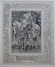 Original Walter Crane Faerie Queene Woodcut