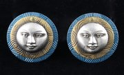 Pair of Art Deco Moonface Earrings circa 1930