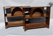 Pair of Art & Crafts Oak Bookshelf Display Shelves