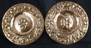 Pair of Arts & Crafts Copper Plaques circa 1910