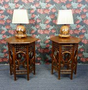 Pair of Liberty Arts & Crafts Oak Side Tables 1890