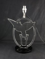 Perspex Art Deco Modernist Bird Lamp Base c1940