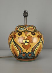 Rare Clews Chameleon Ware Lamp Base c1930