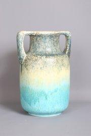 Ruskin Art Pottery Crystalline 2 Handle Vase