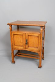 Shapland & Petter Oak Arts & Crafts Smokers Table