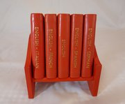 Smythson Leather Bound Midget Dictionary Set on Stand