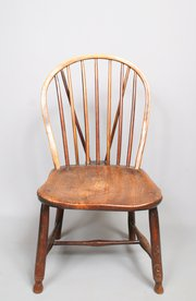 Victorian Ash and Elm Childs Stick Back Chair