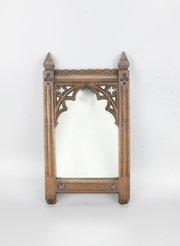 Victorian Gothic Oak Wall Mirror circa 1880