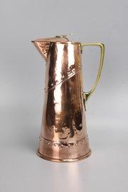 WMF Arts & Crafts Copper Brass Claret Jug Pitcher