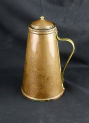 W A S Benson Copper Brass Insulated Jug c1890