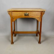 William Birch Arts & Crafts Oak Writing Table 1910
