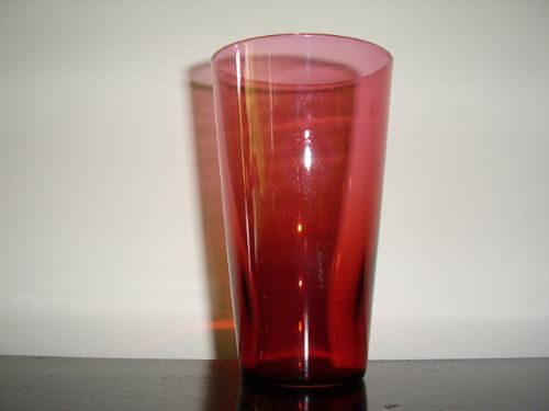 Victorian Cranberry Glass Beaker