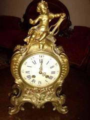 Gilt Bronze Cherub Clock