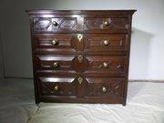 17THc Jacobean moulded front oak chest c1680