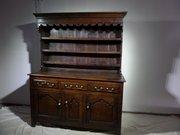 18thc North Wales oak dresser and rack Rare c1740