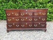 18thc Oak Lancashire Mule chest c1780