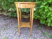 19c Biedermeier burl ash small table c1840