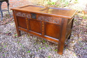 Antique 17thc Yorkshire coffer with inlay c1660