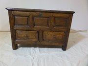 Antique 18thc elm coffer bach c1780 64cms l780
