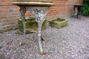 Antique Cast iron pub table c1900 £95