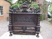 Antique Country House oak post box c1860