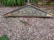 Antique Masonic Lodge wooden sign  dated 1841