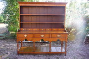 Antique S.Wales oak dresser with spice draws c1800