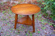 Antique Welsh 19c oak cricket table c1820