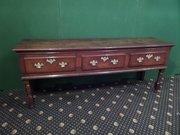 Antique Welsh oak dresser base c1740
