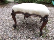 Antique mahogany stool c1860 perfect