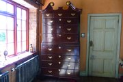 Georgian Secretaire chest on chest c1770