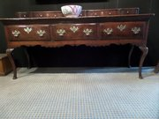 Great 18thc oak dresser base with spice drawers