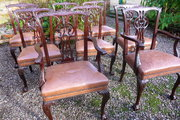 Great antique set of 6+2 mahogany chairs c1880