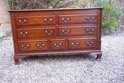 Lancashire mule chest  oak +mahogany c1780