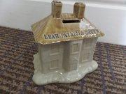 Large19thc Castleford stoneware named moneybox