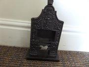 """Masonic iron sample fireplace 11""""h c1860"""