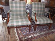 Pair of Mahogany Armchairs Gainsborough style
