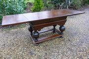 Rare 17thc Oak Drawleaf table c1660
